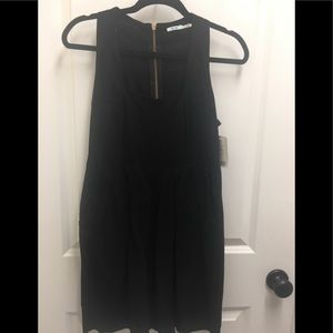 Kimchi Blue Black Flared Mini-Dress-Size 4